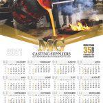 22292 MG Castings A1 Calendars 2021