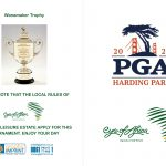 Golf Score Card PGA Championship Majors 2020 - OUTSIDE